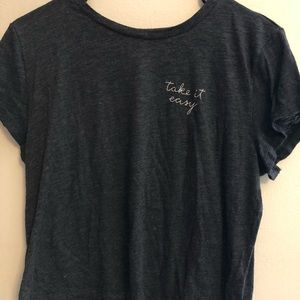 """""""Take it easy"""" Embroidered Crop Top"""